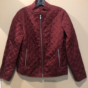 Christian Dior red silk jacket